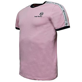Sergio Tacchini Mens Dalhoa T-Shirt Casual Lounge Top Pink 38357 701
