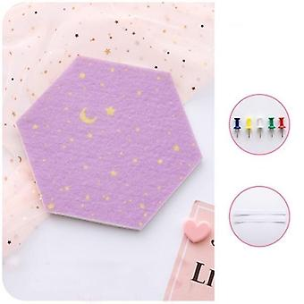 7pcs 3d Hexagon Moon Star Felt Board Letter Message Board Photo Display Diy Art