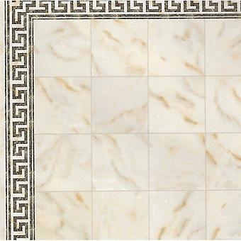 Dolls House Spanish Tile Floor Cream Marble Effect Gloss Card Flooring Sheet