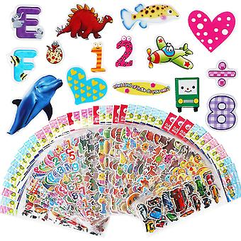 Vicloon 3d stickers for kids 1000 puffy children stickers 40 variety sheets for rewarding gifts scra