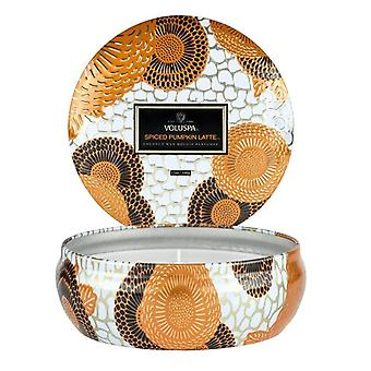 Voluspa 3-Wick Decorative Tin Candle Spiced Pumpkin Latte 340g