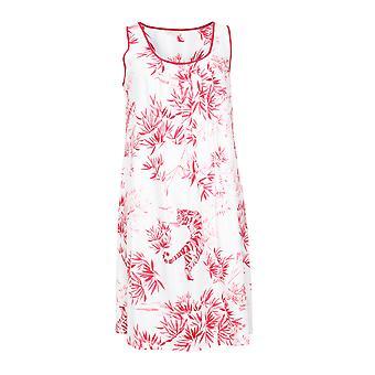Cyberjammies Kristen 4750 Women's White Tiger Print Cotton Nightdress