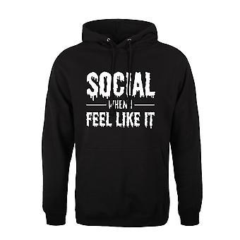 Grindstore Mens Social When I Feel Like It Hoodie