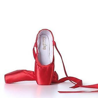 Professional Ballet Pointe Shoes Women Ladies Satin Ballet Shoes