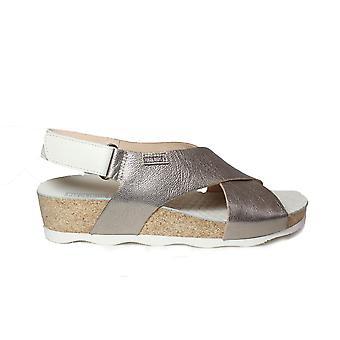 Pikolinos Mahon W9E-0912CLC1 Gold Leather Womens Slingback Sandals