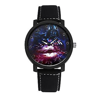 Fashion Casual Creative Store Dial Læder Strap Mænd Kvarts Watch