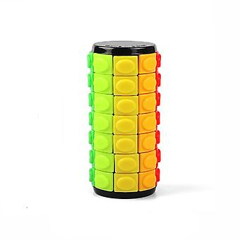 3d Rotate Slide Babylon Tower Stress Cube Puzzle Toy Cube Kids Adult Color