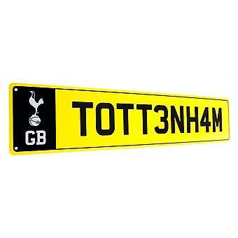 Cartel de la matrícula del Tottenham Hotspur FC
