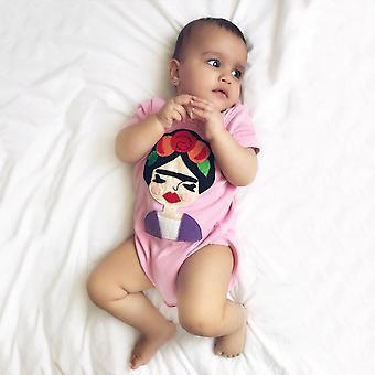Frida Infant Bodysuit - Harmaa ja vaaleanpunainen