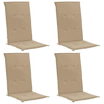 vidaXL hage stol utgave 4 stk. beige 120 x 50 x 3 cm