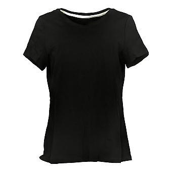 Isaac Mizrahi En direct! Femmes's Top Essentials Pima Cotton Black A380859