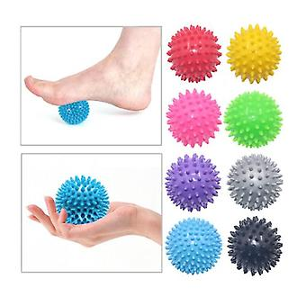 2pcs bola puntiaguda redonda masaje muscular roller yoga palo cuerpo