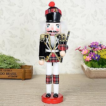 2x Hand Painted Bagpipes Soldier And Soldier Nutcracker Christmas Decor