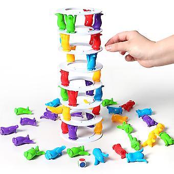 Pingviini torni romahdus tasapaino peli lelu lapsille juhla perhe hauska pelit hullu pingviini crash torni jännitys haaste lelu