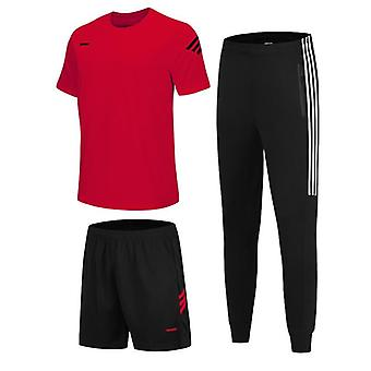 3pc/set Men's Sportswear Shorts T-shirts And Sweatpants