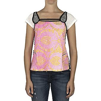 Custo Barcelona Women T-shirt Beticu Flory Multicolor