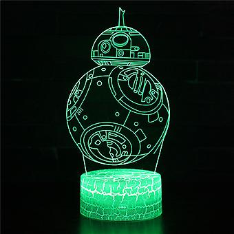Lampe illusion 3D 7 couleurs Optical Change Touch Light USB et Remote Control Art Déco Make A Romantic Atmosphere Christmas Valentine's Birthday Gift -Star Wars#193