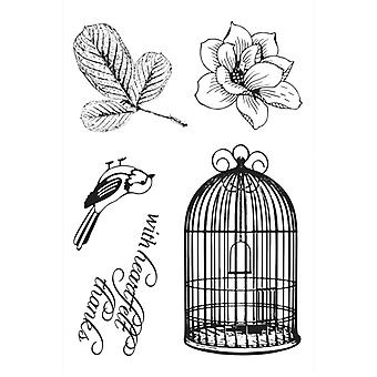Ultimate Crafts Magnolia Lane 4x6 Stamp Set - Songbird