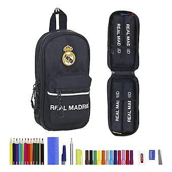 Rugzak Pencil Case Real Madrid C.F. Navy Blue (33 stuks)