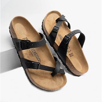 Birkenstock Mayari 71791 (reg) Naiset Birko-flor Cross Strap Sandaalit Musta