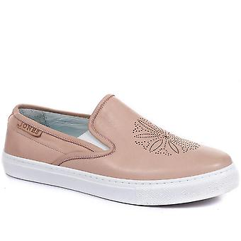 Jones Bootmaker Womens Aoife Leather Slip-On Trainers