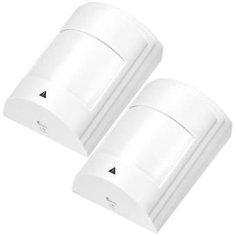 2PCS Wired PIR Motion Sensor Wide Angle Passive Infrared Detector For Home Burglar Security Alarm System