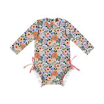 Swimsuit european girl's style long-sleeved  baby one piece swimwear