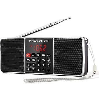 FengChun J-288 Tragbar AM(MW) UKW FM Bluetooth USB SD TF Radio MP3 mit Doppelmagnet Lautsprechern