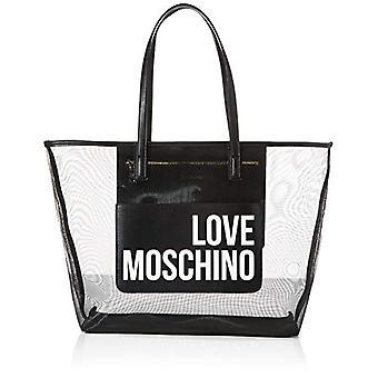 Love Moschino Jc4245pp0a, Women's Tote Bag, Black Fabric, 48x32x12 cm (W x H x L)