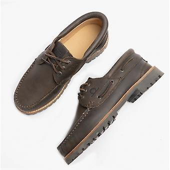 Chatham Sperrin Mens Leather Boat Shoes Dark Brown