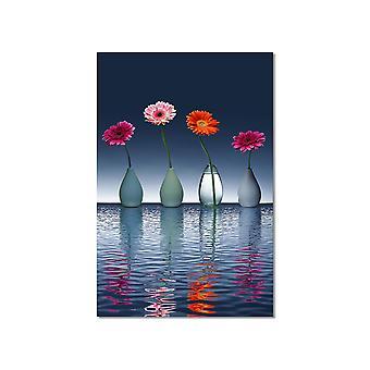 Malowanie kwiatów wazony ładne kwiaty