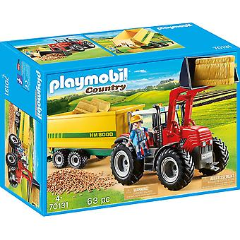 Playmobil Country Tractor with Feed Trailer Playset