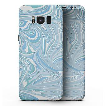 Márványozott kavargó blues V52 - Samsung Galaxy S8 teljes testű bőrkészlet
