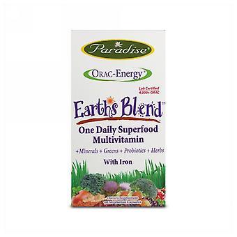 Paradise Herbs Orac-Energy Multivitamin With Iron, 60 Veg Caps