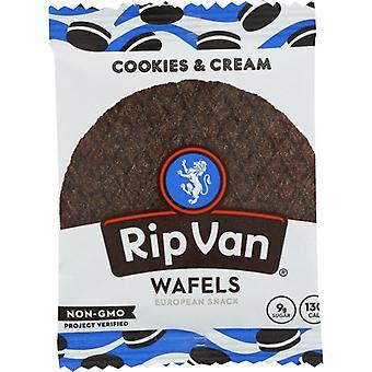 Rip Van Wafels Wafel Cookies Crm Lw Sgr, Case of 12 X 1.16 Oz