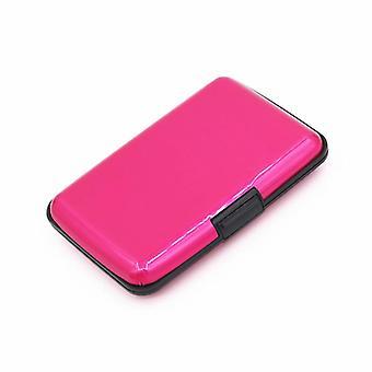 Porta tarjetas para 6 tarjetas Aluminum Pink