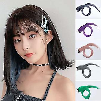 Clip On Hair Extension 23 Color Straight Hair Extension Clip In Hairpieces High Temperature Faber