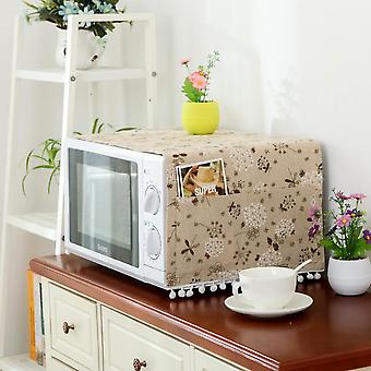 Swotgdoby Microwave Oven Dustproof Protective Cover With Storage Pockets