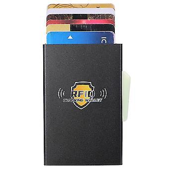 Aluminiumlegierung Kartentasche, automatische elastische Karte RFID Metall Kartenbox (Farbe-1)
