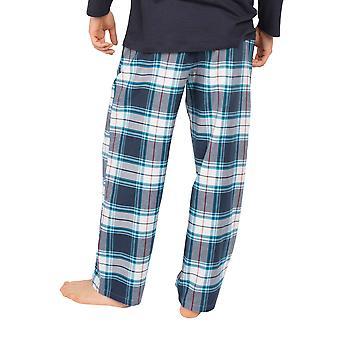 Cyberjammies Lewis 6631 Men's Blue Check Pijama Pant