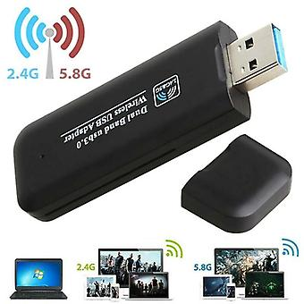 1200Mbps Dual Band USB 3.0 Adapter Wireless WiFi Network Receiver Window 7 8 10