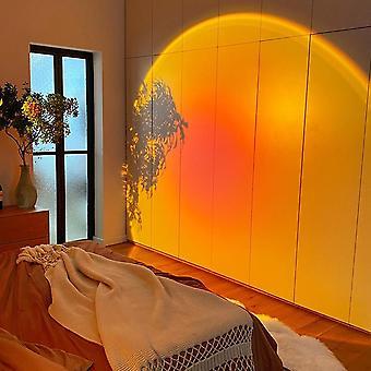 Usb led luz nocturna arco iris puesta de sol rojo proyector lámpara para el hogar cafetería fondo decoración de la pared ambiente lámpara de mesa luz