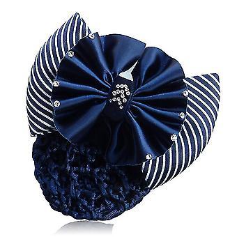 Band Bowknot Net Bun Snood Haarnadel Haarspange für Frauen