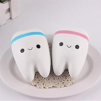 かわいい歯スクイーズ電話チャームスーパーソフトプースローライジングボールチェーンキッドおもちゃ