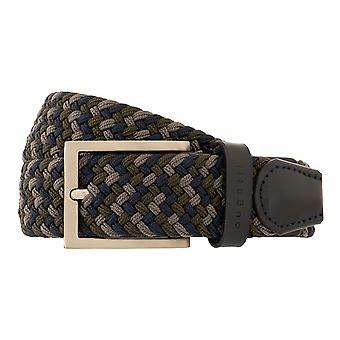 bugatti Belt Men's Belt Textile Belt Leather Belt Blue/Grey 5229