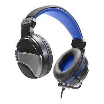 Casque de jeu stéréo Neak avec microphone flexible pour PS4, double prise jack 3,5 mm, câble de 1,2 m