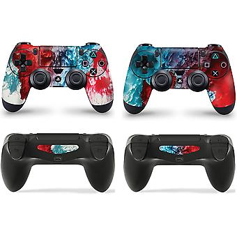 GNG 2 x COLOUR EXPLOSION PlayStation 4 PS4 Controller Skins Full Wrap Vinyl Sticker