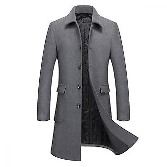 Mile Heren Single Breasted Casual Slim Fit Coat Trenchcoats