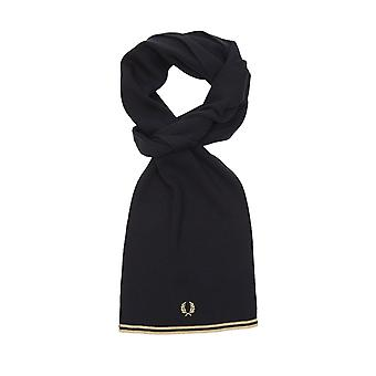 Fred Perry Twin Tipped Merino Wool Scarf Black/ Champagne