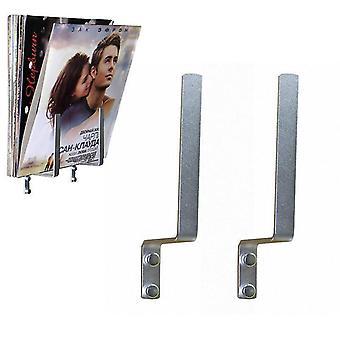 1 Pair- Aluminum Singles Stand Holds Storage Rack For Vinyl Record Magazine